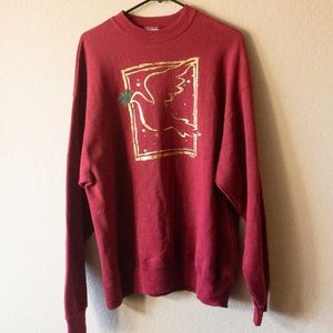 Vintage | Oversized Christmas Sweater | Red | XL